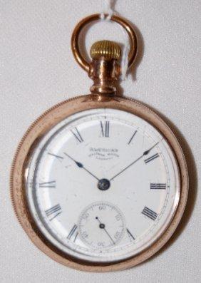 Am. Waltham 15J, 18S, GF, DMK, OF Pocket Watch