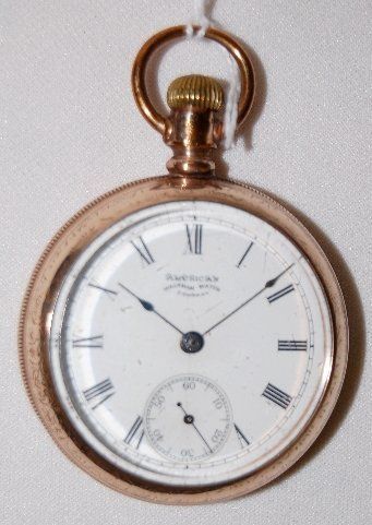 109: Am. Waltham 15J, 18S, GF, DMK, OF Pocket Watch