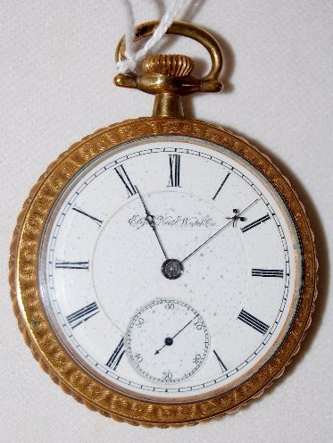 110: Elgin 17J, BW Raymond, 18S, OF Pocket Watch