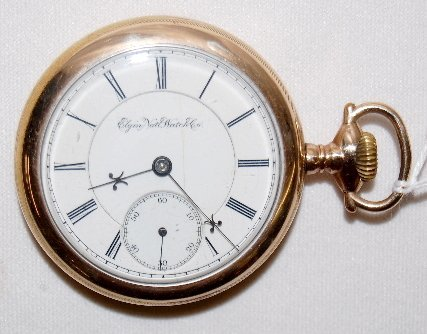 111: Elgin 15J, BW Raymond, 18S, LS, OF Pocket Watch