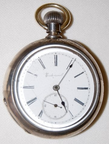 113: Centennial 18S, OF Coin Silver Pocket Watch