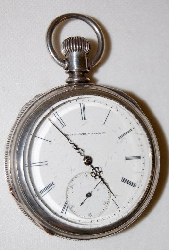115: Elgin Nat'l 16S, M1, OF Coin Silver Pocket Watch