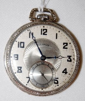 116: Illinois 21J, A. Lincoln, 12/13S, Pocket Watch
