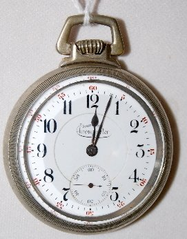 134: Inter-State Chronometer 17J, 16S, Pocket Watch