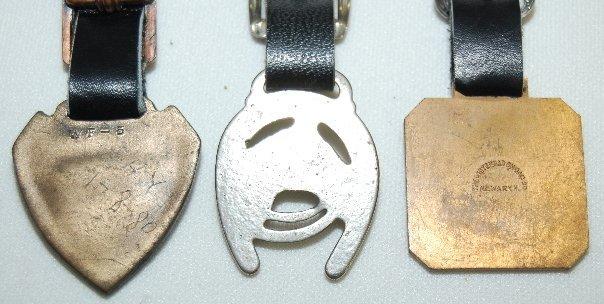 141: 7 Watch Fobs: Art Nouveau, Animal, Blimp & Bell - 3