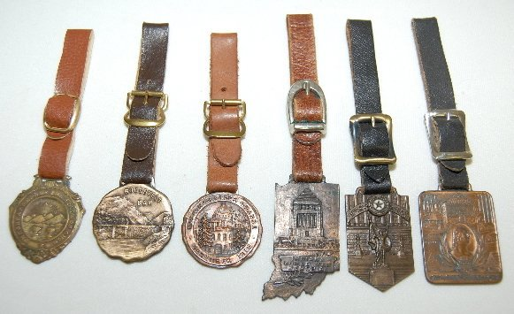 142: 6 Watch Fobs: Memorials & State Related Items