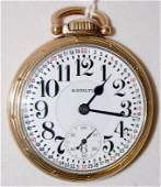 195: Hamilton 992, 21J, 16S, GJS, OF Pocket Watch