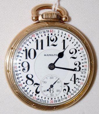 Hamilton 992, 21J, 16S, GJS, OF Pocket Watch
