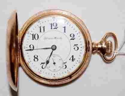Hampden 23J, New Railway, 18S, HC Pocket Watch