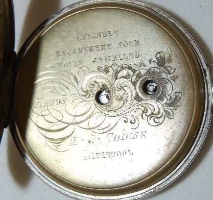 230: M.J. Tobias, Liverpool, Jeweled Pocket Watch  - 3