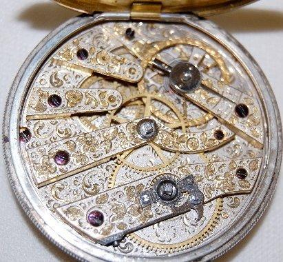 230: M.J. Tobias, Liverpool, Jeweled Pocket Watch  - 4
