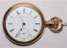 235: Elgin BW Raymond, 15J, 18S, OF Pocket Watch