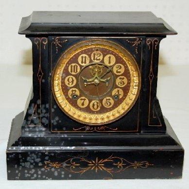 "8: Iron Ansonia ""Servia"" Mantel Clock"