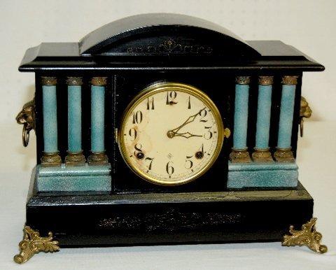 12: Gilbert Antique Black Mantel Clock
