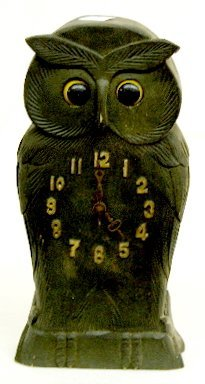 14: Wood Owl Clock with Moving Eyes