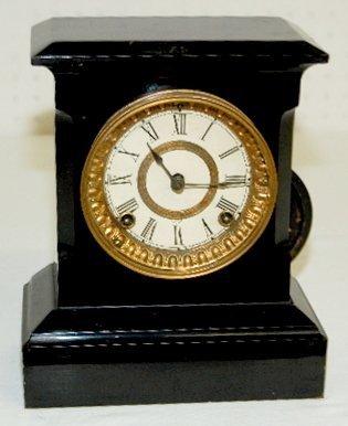 16: Ansonia Small Iron Mantel Clock