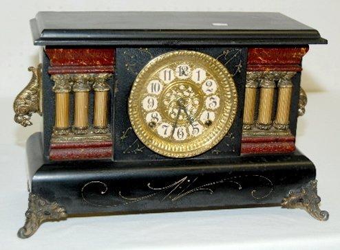 17: Gilbert Fancy Antique Mantel Clock