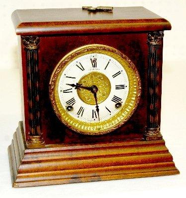 22: Sessions Antique Wood Mantel Clock