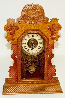 "23: Ingraham ""Topaz"" Oak Kitchen Clock"