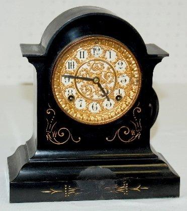 24: Ansonia Fancy Iron Antique Clock
