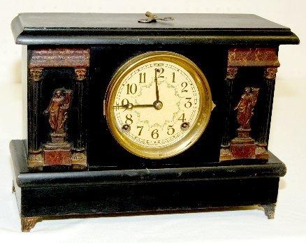 25: Sessions Antique Mantel Clock, Harp Player