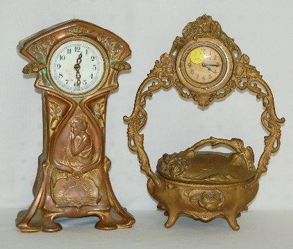 27: Jewelry Box and Lady Dresser Clocks