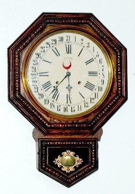 Ingraham Calendar Schoolhouse Clock