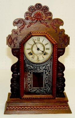 32: Antique Ansonia Fancy Kitchen Clock