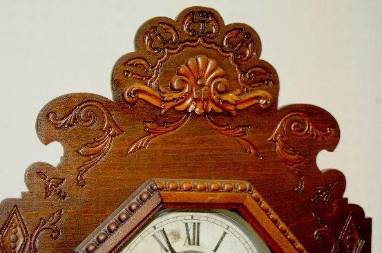 32: Antique Ansonia Fancy Kitchen Clock - 2