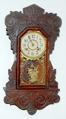 33: New Haven Carved Hanging Kitchen Clock