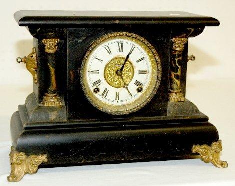37: Antique Black Mantel Clock