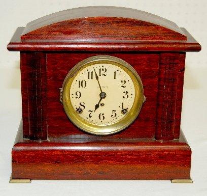 40: Seth Thomas Red Adamantine Mantel Clock