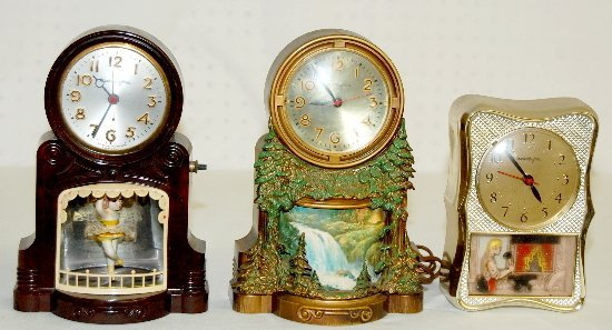 44: 3 Mastercrafters Clocks Girl, Blacksmith +