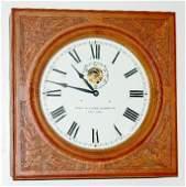 75A: Oak Self Winding Gallery Clock