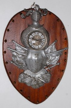 Antique Knights Armour Wall Clock