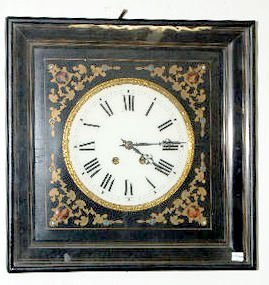 Square Boulle Picture Frame Clock
