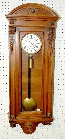 Carved 1 Weight Vienna Regulator Clock