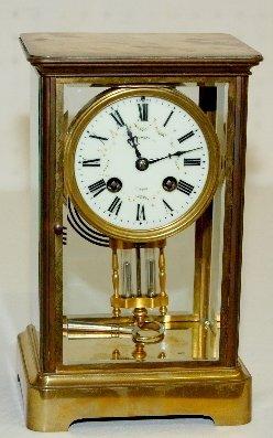 90: Japy Freres Crystal Regulator Clock