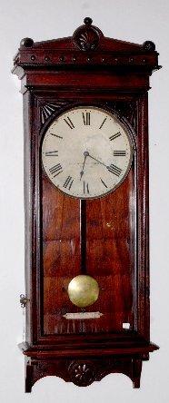 90A: Self Winding Clock Co. Wall Regulator Clock