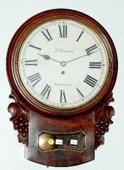 92: J. Brunner English Fusee School Clock
