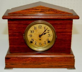 Seth Thomas Red Adamantine Mantel Clock