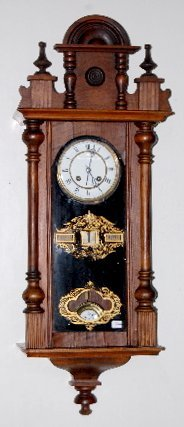 95A: German Calendar Wall Hanging Clock