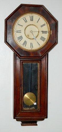 97A: New Haven Extra Long Drop Schoolhouse Clock
