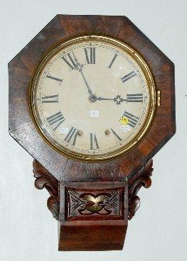 100: New Haven Fusee Schoolhouse Clock, Rare Model