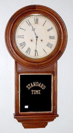100A: 2 Weight E.N. Welch Wall Clock