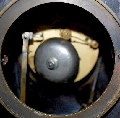 101A: Large Iron 3 Function Locomotive Clock - 10