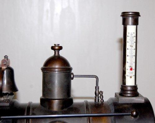 101A: Large Iron 3 Function Locomotive Clock - 2