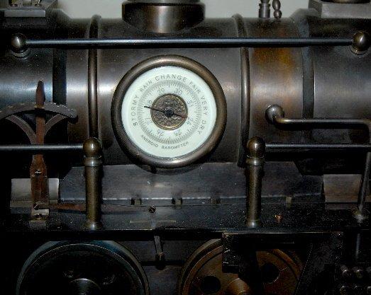 101A: Large Iron 3 Function Locomotive Clock - 3