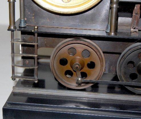 101A: Large Iron 3 Function Locomotive Clock - 5