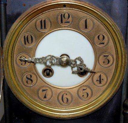 101A: Large Iron 3 Function Locomotive Clock - 6